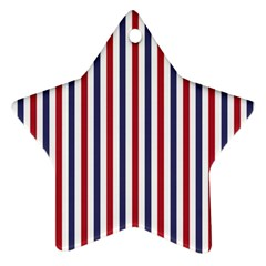 Usa Flag Red White And Flag Blue Wide Stripes Star Ornament (two Sides) by PodArtist