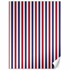 Usa Flag Red White And Flag Blue Wide Stripes Canvas 18  X 24   by PodArtist