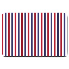 Usa Flag Red White And Flag Blue Wide Stripes Large Doormat  by PodArtist