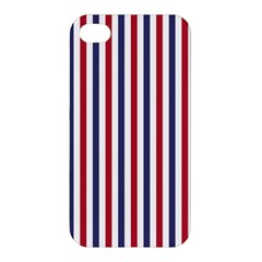 Usa Flag Red White And Flag Blue Wide Stripes Apple Iphone 4/4s Premium Hardshell Case by PodArtist