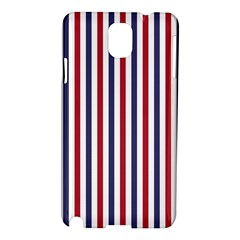 Usa Flag Red White And Flag Blue Wide Stripes Samsung Galaxy Note 3 N9005 Hardshell Case by PodArtist