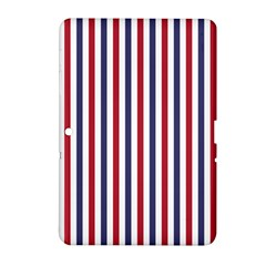 Usa Flag Red White And Flag Blue Wide Stripes Samsung Galaxy Tab 2 (10 1 ) P5100 Hardshell Case  by PodArtist