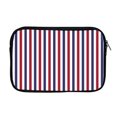 Usa Flag Red White And Flag Blue Wide Stripes Apple Macbook Pro 17  Zipper Case by PodArtist
