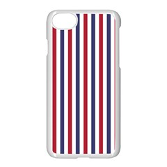 Usa Flag Red White And Flag Blue Wide Stripes Apple Iphone 8 Seamless Case (white)