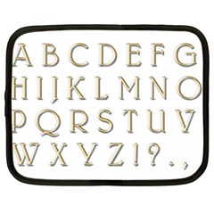 Letters Gold Classic Alphabet Netbook Case (xxl)  by Sapixe