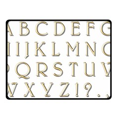 Letters Gold Classic Alphabet Fleece Blanket (small) by Sapixe