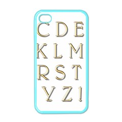 Letters Gold Classic Alphabet Apple Iphone 4 Case (color) by Sapixe