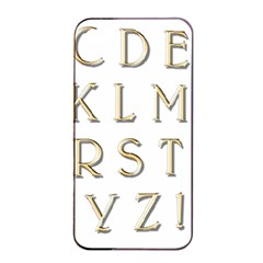 Letters Gold Classic Alphabet Apple Iphone 4/4s Seamless Case (black) by Sapixe