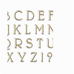 Letters Gold Classic Alphabet Large Garden Flag (two Sides) by Sapixe