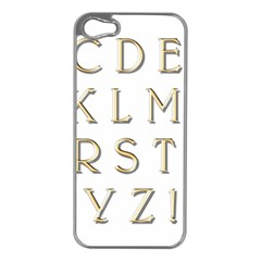 Letters Gold Classic Alphabet Apple Iphone 5 Case (silver)