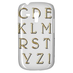Letters Gold Classic Alphabet Galaxy S3 Mini by Sapixe