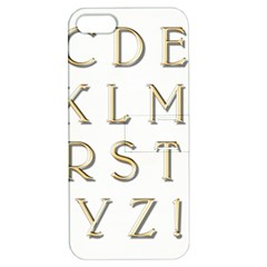 Letters Gold Classic Alphabet Apple Iphone 5 Hardshell Case With Stand by Sapixe