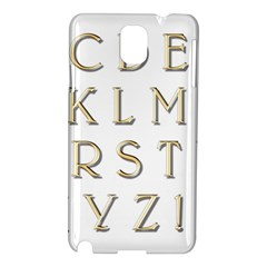 Letters Gold Classic Alphabet Samsung Galaxy Note 3 N9005 Hardshell Case by Sapixe