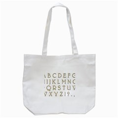 Letters Gold Classic Alphabet Tote Bag (white) by Sapixe