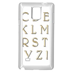 Letters Gold Classic Alphabet Samsung Galaxy Note 4 Case (white)