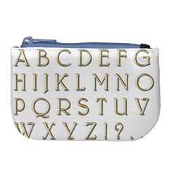 Letters Gold Classic Alphabet Large Coin Purse by Sapixe