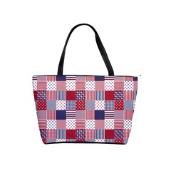 Usa Americana Patchwork Red White & Blue Quilt Shoulder Handbags