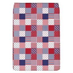 Usa Americana Patchwork Red White & Blue Quilt Flap Covers (l)  by PodArtist