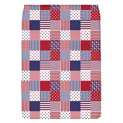 Usa Americana Patchwork Red White & Blue Quilt Flap Covers (s)  by PodArtist