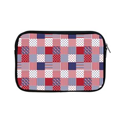Usa Americana Patchwork Red White & Blue Quilt Apple Ipad Mini Zipper Cases by PodArtist