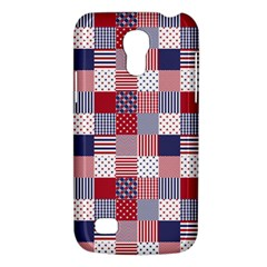 Usa Americana Patchwork Red White & Blue Quilt Galaxy S4 Mini