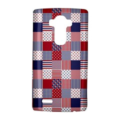 Usa Americana Patchwork Red White & Blue Quilt Lg G4 Hardshell Case by PodArtist