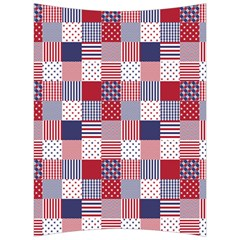 Usa Americana Patchwork Red White & Blue Quilt Back Support Cushion