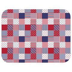 Usa Americana Patchwork Red White & Blue Quilt Full Print Lunch Bag