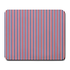 Usa Flag Red And Flag Blue Narrow Thin Stripes  Large Mousepads by PodArtist