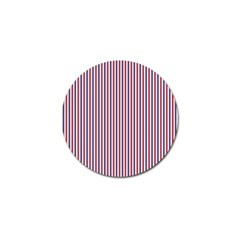 Usa Flag Red And Flag Blue Narrow Thin Stripes  Golf Ball Marker by PodArtist