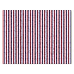 Usa Flag Red And Flag Blue Narrow Thin Stripes  Rectangular Jigsaw Puzzl by PodArtist