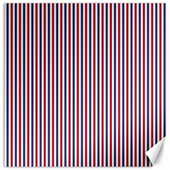 Usa Flag Red And Flag Blue Narrow Thin Stripes  Canvas 12  X 12