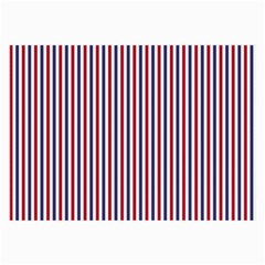 Usa Flag Red And Flag Blue Narrow Thin Stripes  Large Glasses Cloth (2 Side) by PodArtist