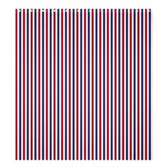 Usa Flag Red And Flag Blue Narrow Thin Stripes  Shower Curtain 66  X 72  (large)  by PodArtist