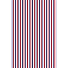 Usa Flag Red And Flag Blue Narrow Thin Stripes  5 5  X 8 5  Notebooks by PodArtist