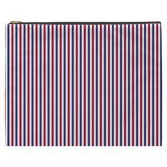 Usa Flag Red And Flag Blue Narrow Thin Stripes  Cosmetic Bag (xxxl)  by PodArtist