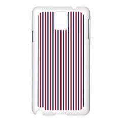 Usa Flag Red And Flag Blue Narrow Thin Stripes  Samsung Galaxy Note 3 N9005 Case (white) by PodArtist