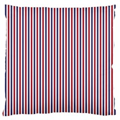 Usa Flag Red And Flag Blue Narrow Thin Stripes  Large Flano Cushion Case (two Sides) by PodArtist