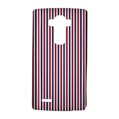 Usa Flag Red And Flag Blue Narrow Thin Stripes  Lg G4 Hardshell Case by PodArtist