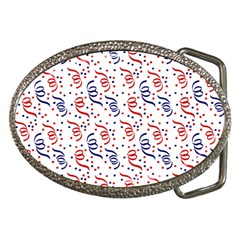 Red White And Blue Usa/uk/france Colored Party Streamers Belt Buckles by PodArtist