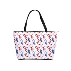 Red White And Blue Usa/uk/france Colored Party Streamers Shoulder Handbags by PodArtist