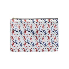 Red White And Blue Usa/uk/france Colored Party Streamers Cosmetic Bag (medium)  by PodArtist