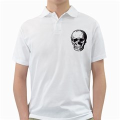 Skull Vintage Old Horror Macabre Golf Shirts