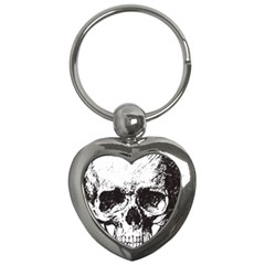 Skull Vintage Old Horror Macabre Key Chains (heart)  by Sapixe