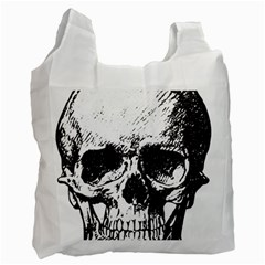 Skull Vintage Old Horror Macabre Recycle Bag (two Side)  by Sapixe