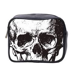 Skull Vintage Old Horror Macabre Mini Toiletries Bag 2 Side by Sapixe