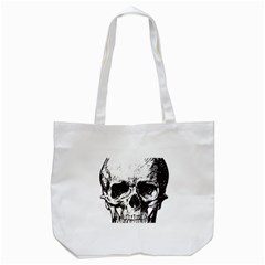 Skull Vintage Old Horror Macabre Tote Bag (white) by Sapixe