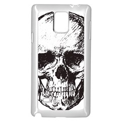 Skull Vintage Old Horror Macabre Samsung Galaxy Note 4 Case (white) by Sapixe