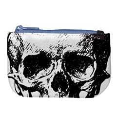 Skull Vintage Old Horror Macabre Large Coin Purse