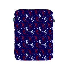 Red White And Blue Usa/uk/france Colored Party Streamers On Blue Apple Ipad 2/3/4 Protective Soft Cases by PodArtist